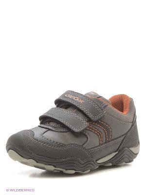Ботинки GEOX. Цвет: серый, оранжевый