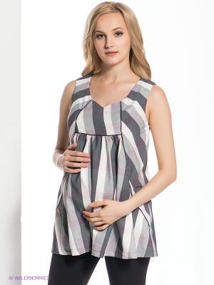Топ для беременных 40 недель. Цвет: серый