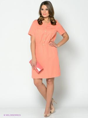 Платье Blue Seven. Цвет: персиковый