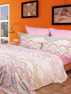 Комплект постельного белья Dream time. Цвет: бледно-розовый, розовый