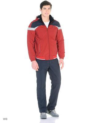 Спортивный костюм с подкладкой из флиса TAGERTON. Цвет: темно-синий, красный
