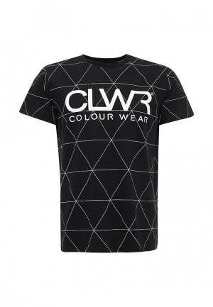 Футболка CLWR. Цвет: черный