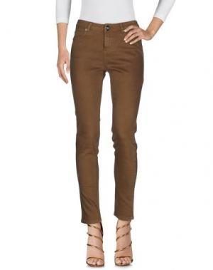 Джинсовые брюки ATELIER FIXDESIGN. Цвет: зеленый-милитари
