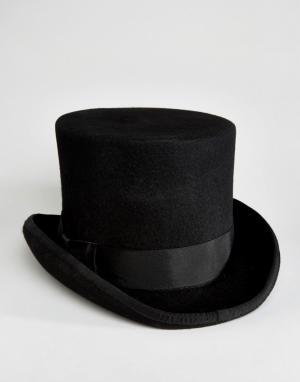 ASOS Черная шляпа-цилиндр. Цвет: черный