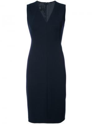 Платье с V-образным вырезом Akris. Цвет: синий