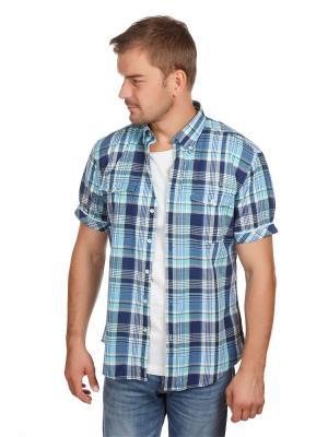 Рубашка Poplin McNeal. Цвет: синий, голубой