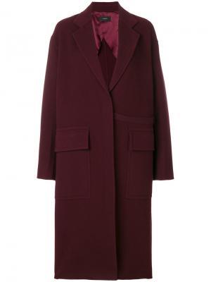 Пальто с карманами клапанами Joseph. Цвет: красный