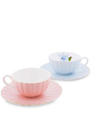Кофейный н-р на 2 перс. Санта Джулия (Pavone) Pavone. Цвет: синий, розовый