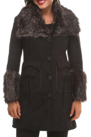 Пальто Isaco & Kawa. Цвет: dark brown
