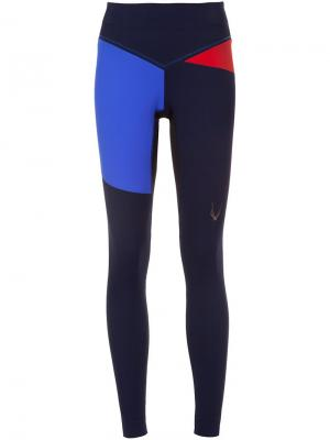 Colour block leggings Lucas Hugh. Цвет: синий