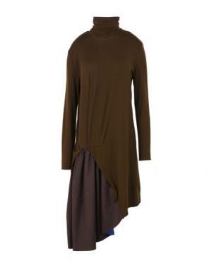 Короткое платье TER ET BANTINE. Цвет: темно-коричневый