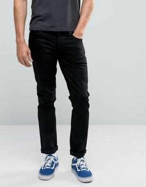 Nudie Jeans Узкие черные джинсы. Цвет: черный