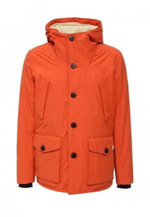 Куртка утепленная Jack & Jones. Цвет: оранжевый