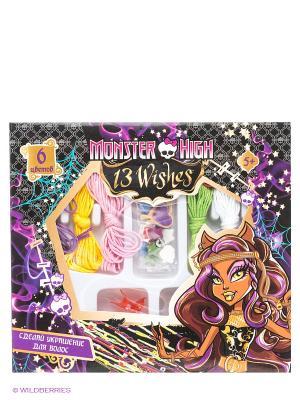 Набор пластиковых подвесок для волос Monster High Centrum. Цвет: фиолетовый