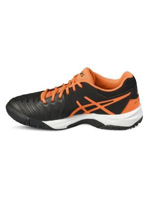 Спортивная обувь GEL-RESOLUTION 7 GS ASICS. Цвет: черный, оранжевый