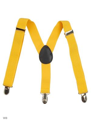 Подтяжки Stilmark. Цвет: желтый