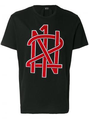 Logo print T-shirt Nº21. Цвет: чёрный