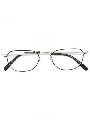 Очки в овальной оправе Matsuda. Цвет: металлический