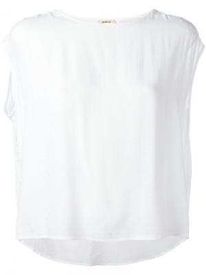 Блузка без рукавов Bellerose. Цвет: белый