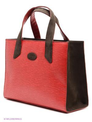 Сумка D'Angeny. Цвет: красный, коричневый