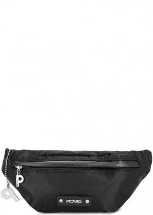 Маленькая черная поясная сумка из текстиля Picard. Цвет: черный