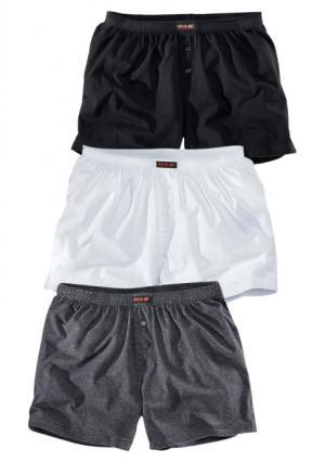 Боксерские трусы, 3 штуки H.I.S.. Цвет: 3x черный, черный + белый + серый меланжевый