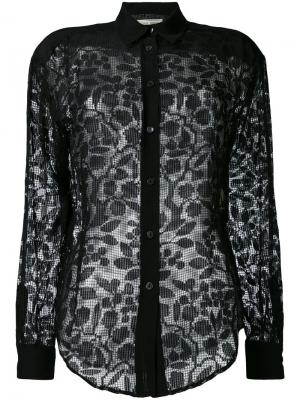Полупрозрачная рубашка Veronique Branquinho. Цвет: чёрный