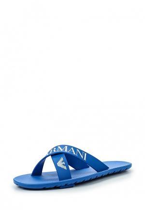 Сланцы Armani Junior. Цвет: синий