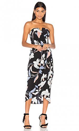 Платье миди glamour Yumi Kim. Цвет: черный