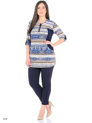 Туника, модель Крит Dorothy's Home. Цвет: темно-синий, бежевый, голубой