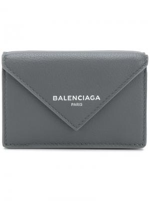 Кошелек Bal Papier Mini Balenciaga. Цвет: серый