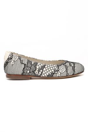Балетки Dolce&Gabbana. Цвет: белый, черный