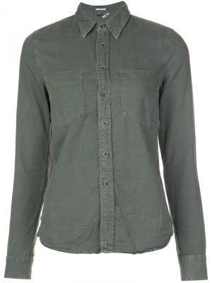 Pocketed button down shirt Mother. Цвет: зелёный