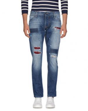 Джинсовые брюки TAKESHY KUROSAWA. Цвет: синий