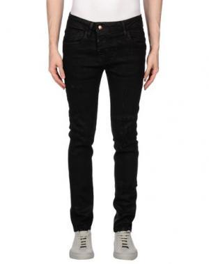 Джинсовые брюки TAKESHY KUROSAWA. Цвет: черный