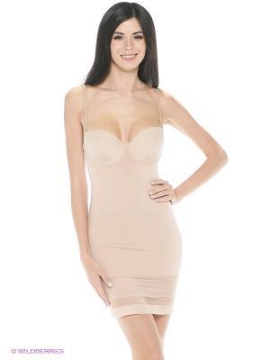 Корректирующее платье Triumph. Цвет: бежевый