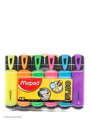Набор маркеров, 6 цв. Maped. Цвет: фиолетовый, голубой, желтый, салатовый