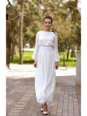 Платье Серафима. Цвет: молочный