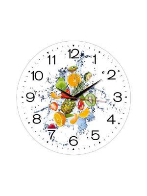 Часы настенные Miolla. Цвет: белый, желтый, зеленый
