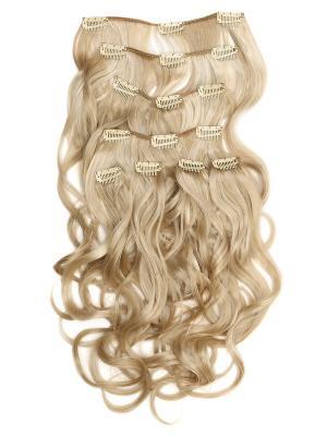 Накладные волосы, пряди на заколках-клипсах Livi VIP-PARIK. Цвет: молочный, белый, светло-желтый