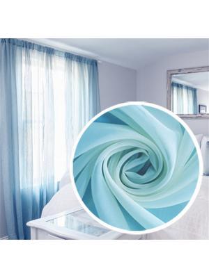 Вуаль Amore Mio однотонная 200*270 см голубой. Цвет: голубой