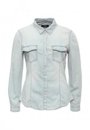 Рубашка джинсовая Mim. Цвет: голубой