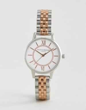 Olivia Burton Металлические часы Wonderland. Цвет: серебряный