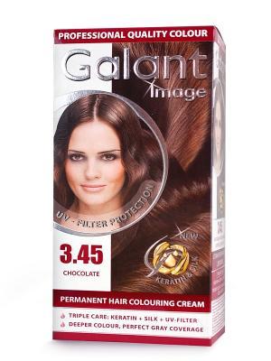Cтойкая крем-краска для волос  GALANT 3.45 шоколадно-каштановый, 115 мл., (Болгария) Image. Цвет: кремовый