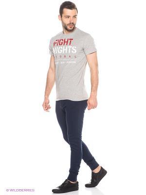 Футболка Fight Nights. Цвет: серый меланж