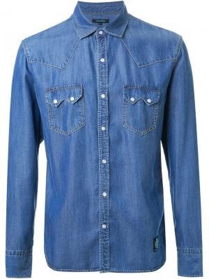 Джинсовая рубашка Guild Prime. Цвет: синий