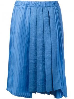 Асимметричная плиссированная юбка Nº21. Цвет: синий