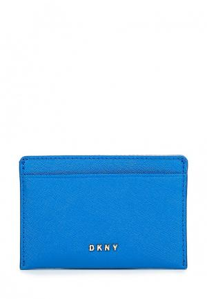 Визитница DKNY. Цвет: синий