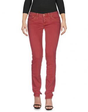 Джинсовые брюки NOLITA. Цвет: кирпично-красный