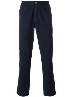 Классические брюки чинос Sunspel. Цвет: синий